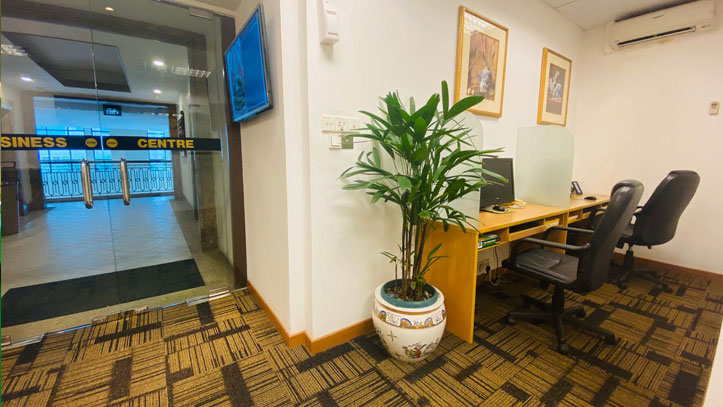 business centre office located within serviced suites singapore
