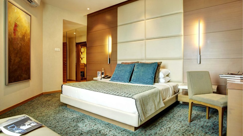 large master bedroom from four bedroom penthouse for rent in singapore