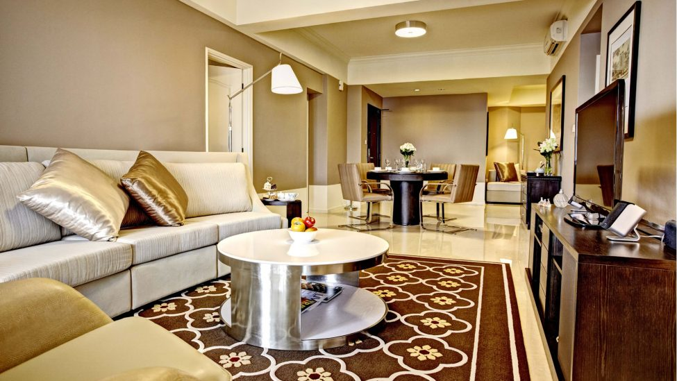 homely living room of four bedroom serviced residences singapore