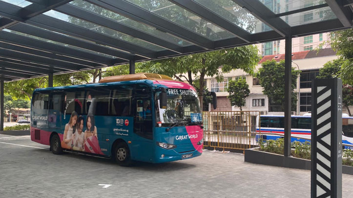 shuttle bus service of our serviced apartments