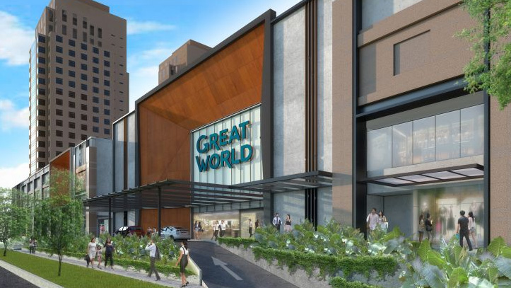 great world city shopping centre right beside serviced apartments sg