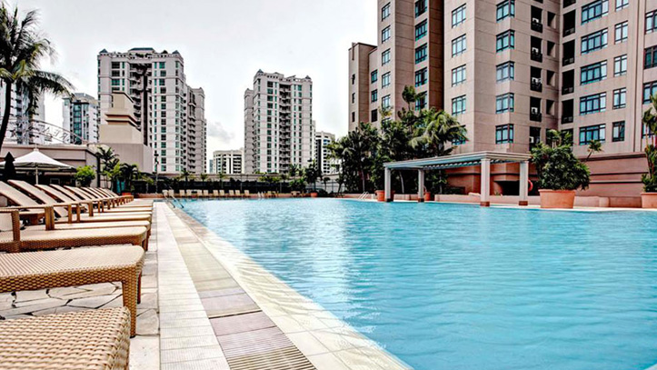 serviced suites singapore swimming pool and lounge facilities