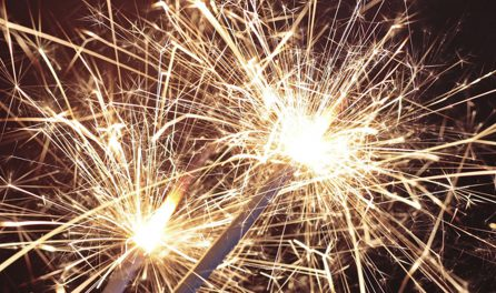 sparklers in celebration of local festivals and traditions