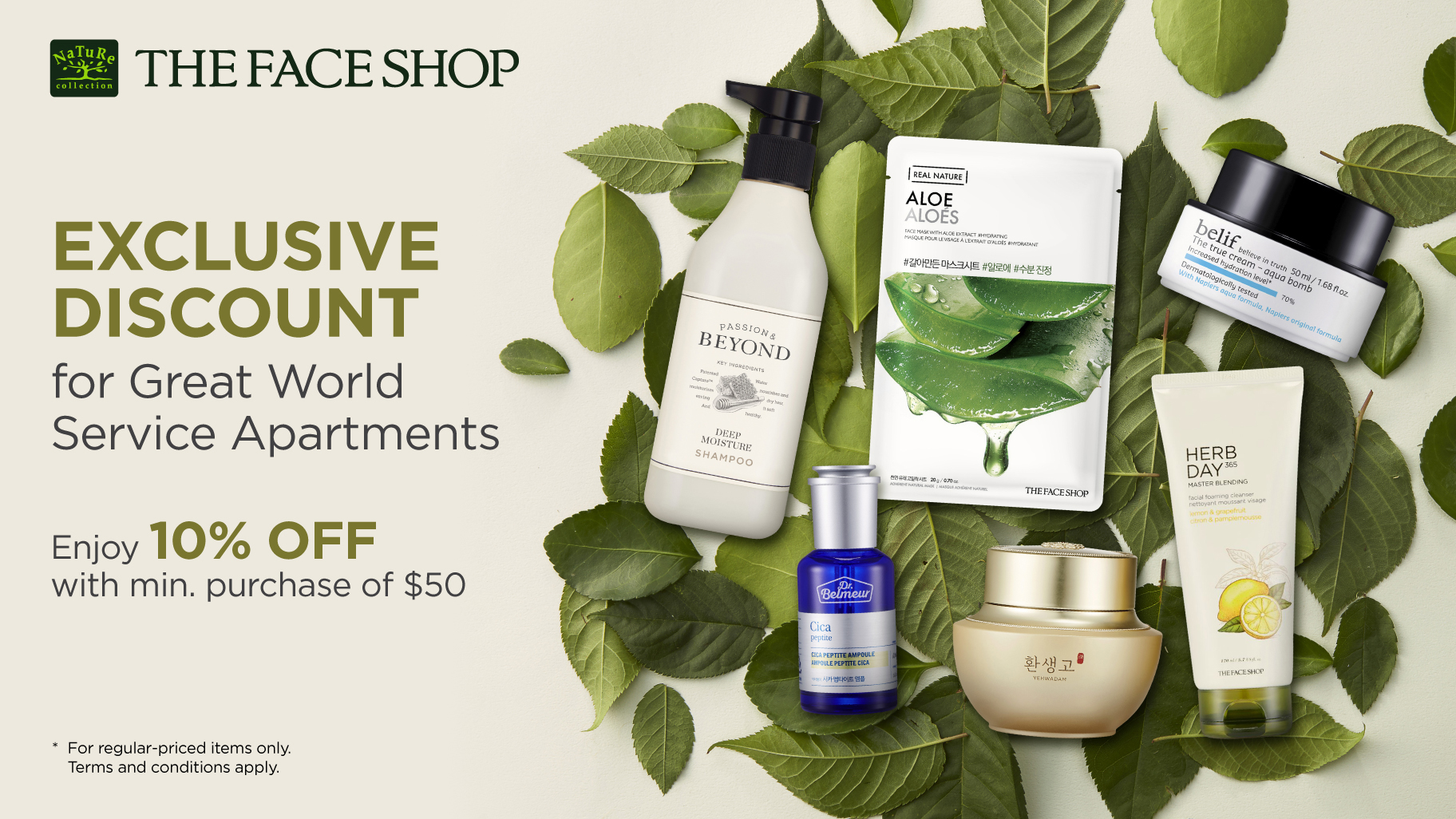 The Face Shop promotions for Great world Serviced apartments resident